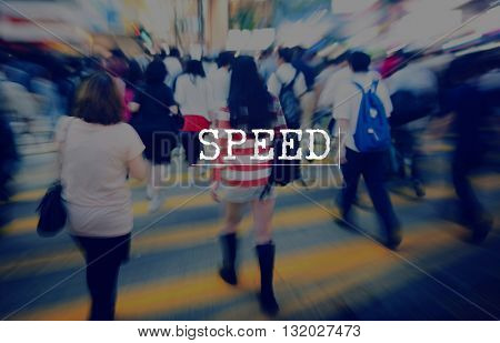 Speed Rapidity Rate Rush Tempo Technology Concept