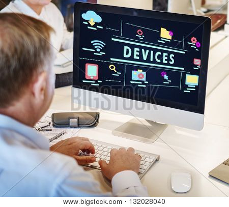 Internet High-Tech Digital Icon Graphic Concept