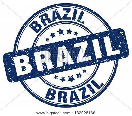 Brazil blue grunge round vintage rubber stamp.Brazil stamp.Brazil round stamp.Brazil grunge stamp.Brazil.Brazil vintage stamp.