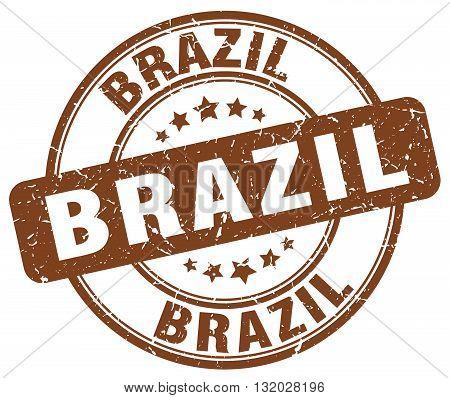 Brazil brown grunge round vintage rubber stamp.Brazil stamp.Brazil round stamp.Brazil grunge stamp.Brazil.Brazil vintage stamp.
