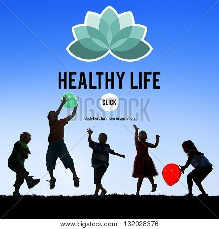 Healthy Life Vitality Physical Nutrition Personal Development Concept