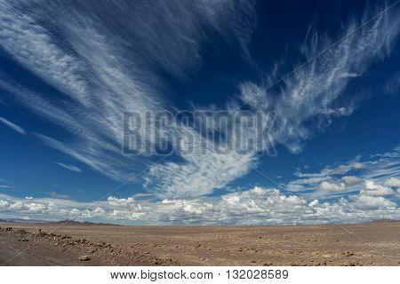 Atacama Desert Image With Clouds