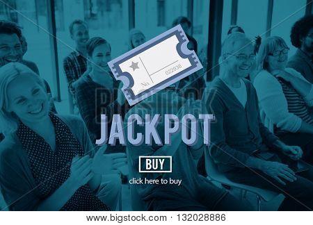 Jackpot Prize Value Winner Amount Hopeful Concept