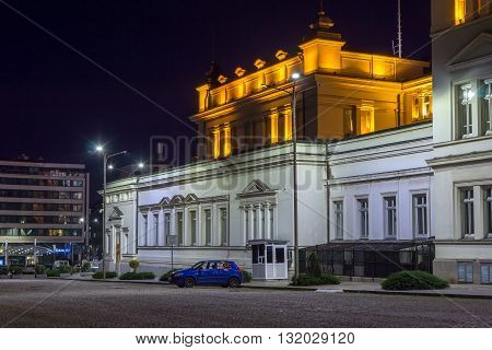 Amazing Night photo of National Assembly in city of Sofia, Bulgaria
