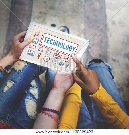 Technology Data Digital Internet Innovation Tech Concept