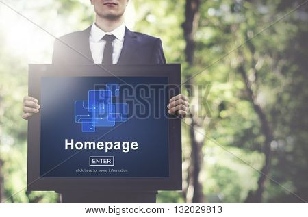 Homepage Online Technology Internet Website Concept