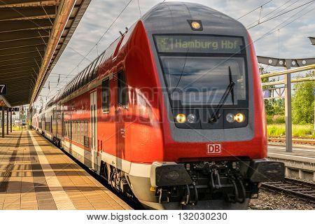ROSTOCK - MAY 29, 2016: Regional train in Germany