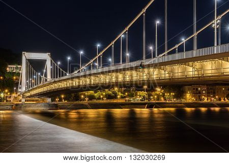 Elizabeth Bridge across the Danube River in Budapest