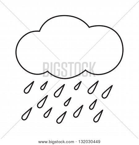 Line icon heavy rain. Web icon. Vector illustration.