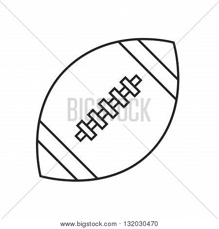 Line icon rugby ball. Sport. Vector illustration.