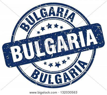 Bulgaria blue grunge round vintage rubber stamp.Bulgaria stamp.Bulgaria round stamp.Bulgaria grunge stamp.Bulgaria.Bulgaria vintage stamp.