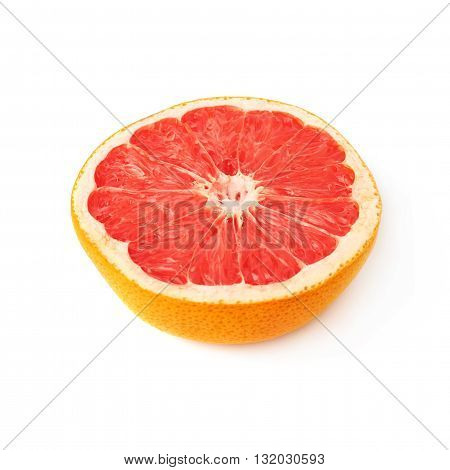grapefruit cut in half isolated over the white background