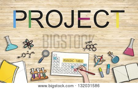 Project Management School Homework Concept