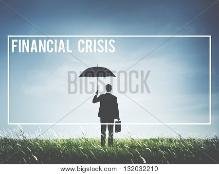 Financial Crisis Debt Depression Failure Concept