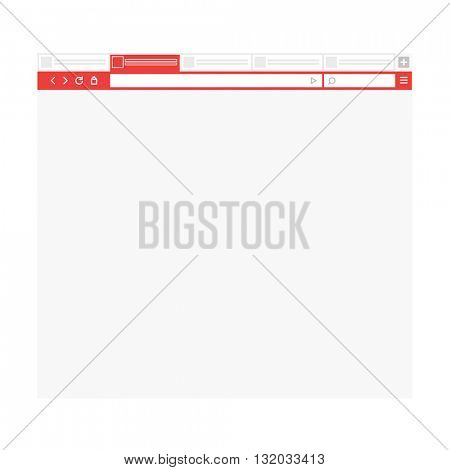 Opened browser window template. Past your content into it. vector empty browser mockup