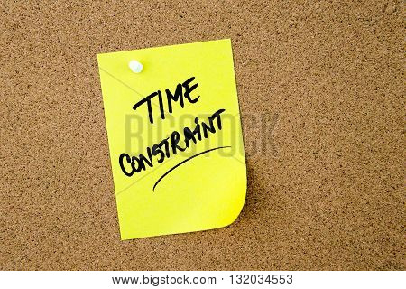 Time Constraint Written On Yellow Paper Note