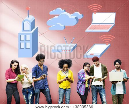 Internet Wifi Connection Social Network Technology Concept