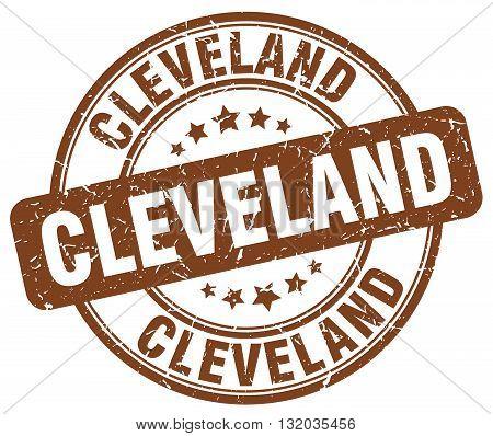 Cleveland brown grunge round vintage rubber stamp.Cleveland stamp.Cleveland round stamp.Cleveland grunge stamp.Cleveland.Cleveland vintage stamp.
