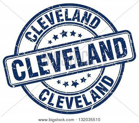 Cleveland blue grunge round vintage rubber stamp.Cleveland stamp.Cleveland round stamp.Cleveland grunge stamp.Cleveland.Cleveland vintage stamp.