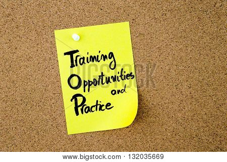 Business Acronym Top As Training Opportunities And Practice