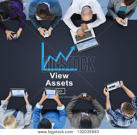 View Assets Business Commerce Currency Estate Concept
