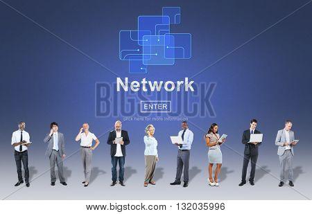 Network Internet Online Media Future Concept