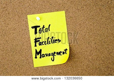 Business Acronym Tfm As Total Facilities Management