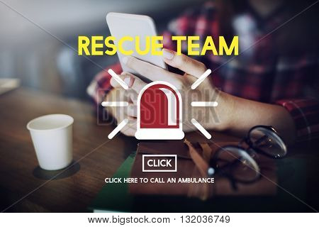 SOS Emergency Rescue Risk Safety Save Symbol Concept