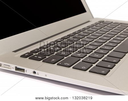 Detail Of Keyboard Of Modern Slim Laptop