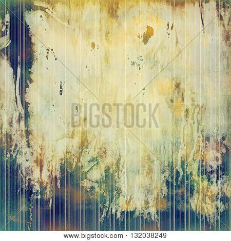 Decorative vintage texture or creative grunge background with different color patterns: yellow (beige); brown; green; blue; gray; purple (violet)