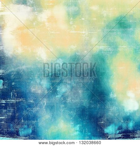Grunge retro texture, aged background with vintage style elements and different color patterns: yellow (beige); green; blue; cyan; white