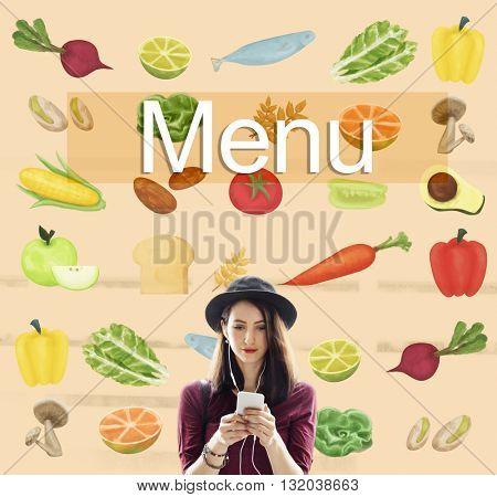 Menu Choice Food Beverage List Selection Option Concept