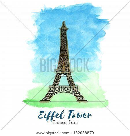 Eiffel Tower. Landmark. Landmark Europe. Landmark capital. Landmark vector. Landmark eps. Landmark watercolor. Landmark icon. Landmark ui. Landmark art. Landmark print. Landmark picture. Landmark illustration.