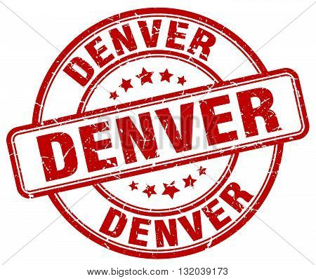 Denver red grunge round vintage rubber stamp.Denver stamp.Denver round stamp.Denver grunge stamp.Denver.Denver vintage stamp.