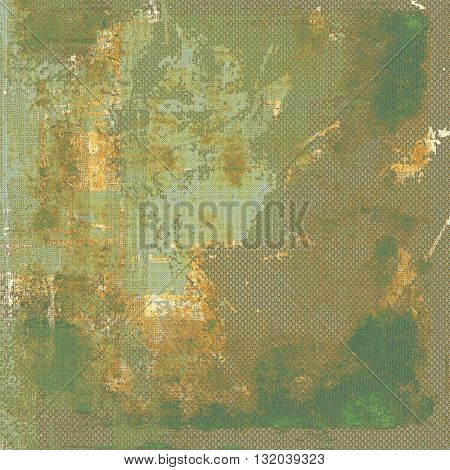 Stylish grunge texture, old damaged background. With different color patterns: yellow (beige); brown; green; gray