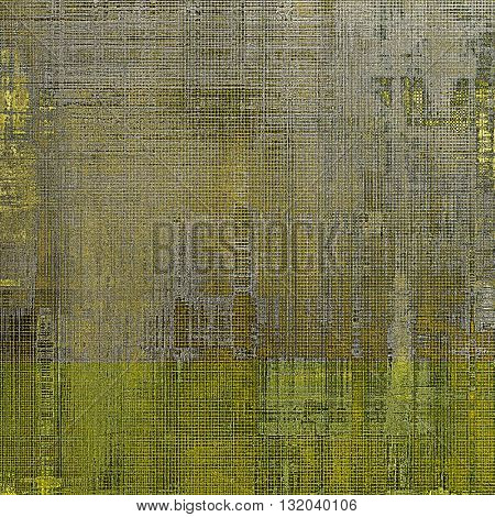 Grunge background with delicate aged texture. Antique backdrop with retro vintage elements and different color patterns: yellow (beige); brown; gray