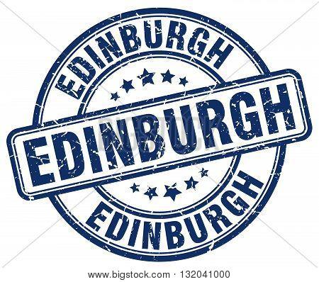 Edinburgh blue grunge round vintage rubber stamp.Edinburgh stamp.Edinburgh round stamp.Edinburgh grunge stamp.Edinburgh.Edinburgh vintage stamp.