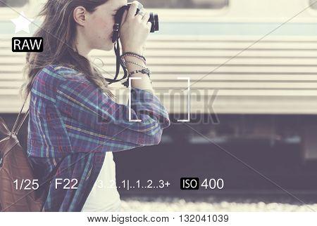 Photography Frame Portrait Focus Copy Space Concept