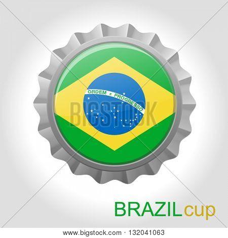 Brazil flag cup