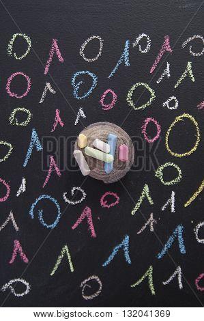 Binary Code Colorful