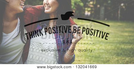 Positive Choice Happiness Inspiration Thinking Concept