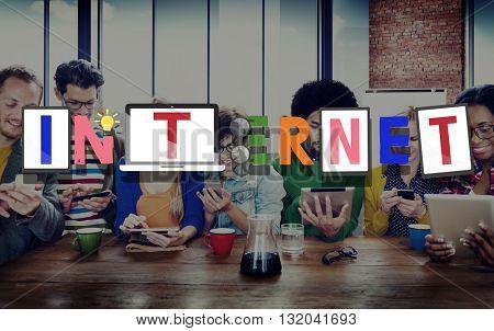 Internet Online Connection Global Concept
