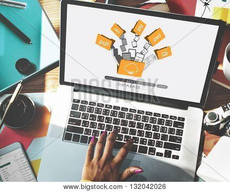Data Backup Files Online Database Storage Concept