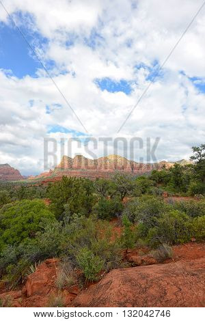 Beautiful mountain landscape image in Southwest USA in Sedona