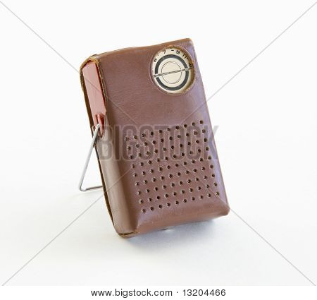 Transistor Radio in Case