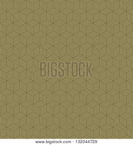 Abstract geometric line shape hexagon square cube seamless patterns background, Vector illustration with swatch