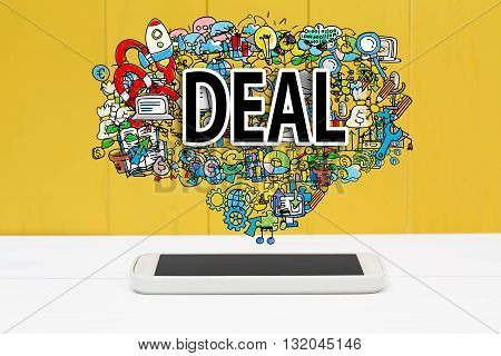 Deal Concept With Smartphone