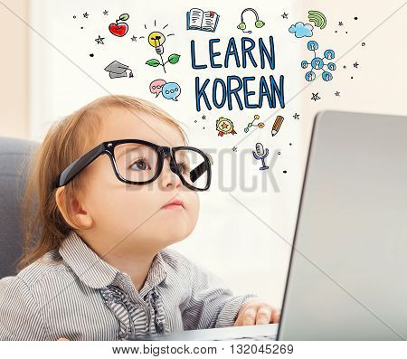Learn Korean Concept With Toddler Girl