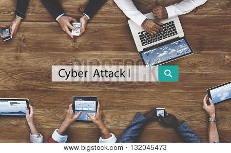 Cyber Attack Digital Information Internet Web Concept