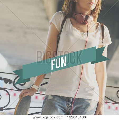 Fun Cheerful Enjoyment Entertainment Concept